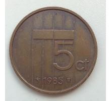 Нидерланды 5 центов 1985