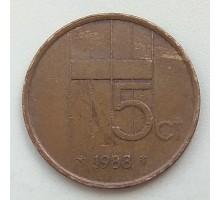 Нидерланды 5 центов 1988