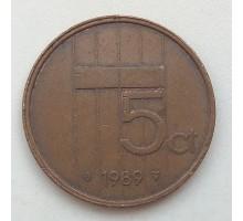 Нидерланды 5 центов 1989