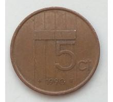 Нидерланды 5 центов 1990