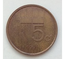 Нидерланды 5 центов 1991