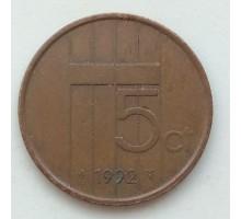 Нидерланды 5 центов 1992