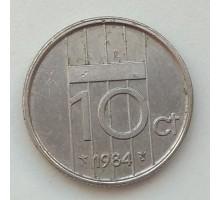 Нидерланды 10 центов 1984
