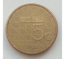 Нидерланды 5 гульденов 1988