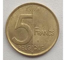 Бельгия 5 франков 1998 Belgique
