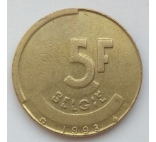 Бельгия 5 франков 1993 Belgie