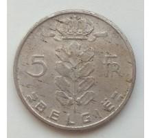 Бельгия 5 франков 1967 Belgie