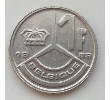 Бельгия 1 франк 1989 Belgique