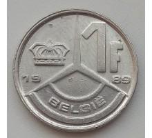 Бельгия 1 франк 1989 Belgie