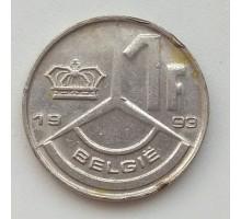 Бельгия 1 франк 1993 Belgie