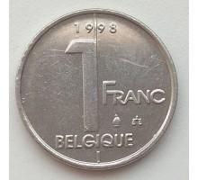 Бельгия 1 франк 1998 Belgique