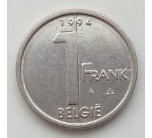 Бельгия 1 франк 1994 Belgie