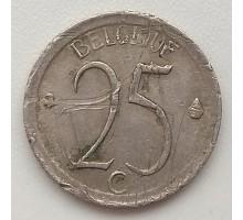 Бельгия 25 сантимов 1971 Belgique