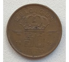 Бельгия 50 сантимов 1955 Belgique