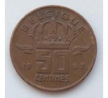 Бельгия 50 сантимов 1967 Belgique