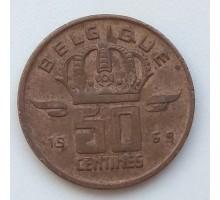 Бельгия 50 сантимов 1969 Belgique