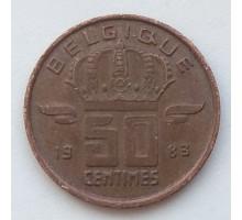 Бельгия 50 сантимов 1983 Belgique