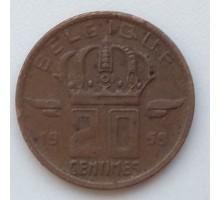 Бельгия 20 сантимов 1959 Belgique