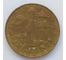 Барбадос 5 центов 1973