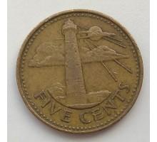 Барбадос 5 центов 1986