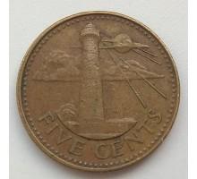 Барбадос 5 центов 1989