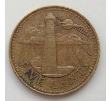 Барбадос 5 центов 1996