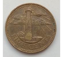 Барбадос 5 центов 2000