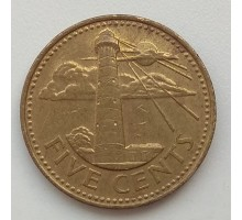 Барбадос 5 центов 2002