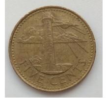 Барбадос 5 центов 2005
