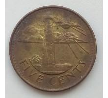 Барбадос 5 центов 2007