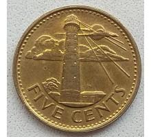 Барбадос 5 центов 2012