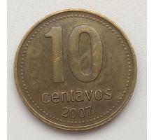Аргентина 10 сентаво 2007