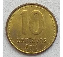 Аргентина 10 сентаво 2011
