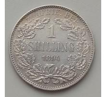 ЮАР 1 шиллинг 1894 серебро