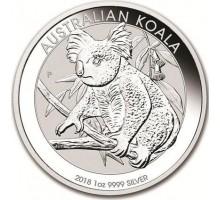 Австралия 1 доллар 2018. Австралийская Коала серебро