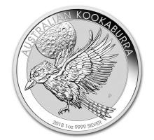 Австралия 1 доллар 2018. Австралийская Кукабарра серебро