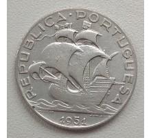 Португалия 2,5 эскудо 1951 серебро