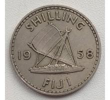 Фиджи 1 шиллинг 1957-1965