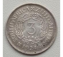ЮАР 3 пенса 1924 серебро