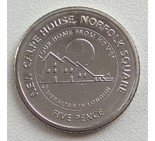 Гибралтар 5 пенсов 2018. Новый Calpe House