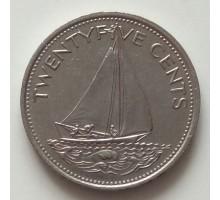 Багамы 25 центов 1974-1989