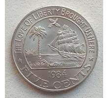 Либерия 5 центов 1960-1984