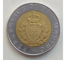 Сан-Марино 500 лир 1987. 15 лет возобновлению чеканке монет