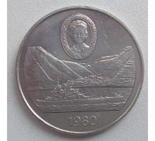 Остров Святой Елены 25 пенсов 1980. 80 лет со дня рождения Королевы Матери