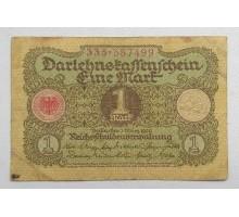Германия 1 марка 1920  9 цифр