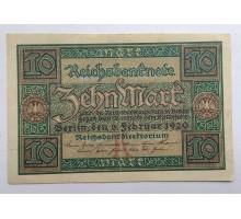 Германия 10 марок 1920