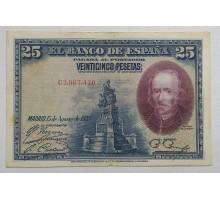 Испания 25 песет 1928