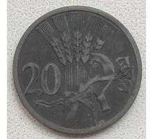 Богемия и Моравия 20 геллеров 1944