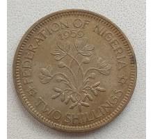 Нигерия 2 шиллинга 1959