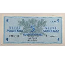 Финляндия 5 марок 1963